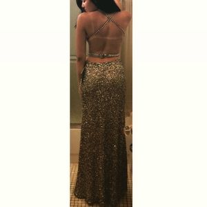 Beautiful prom dress with sequins.